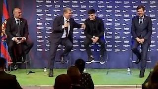 """Il lapsus che imbarazza il Barcellona: """"Non c'è da stupirsi che tu sia qui, Messi"""""""