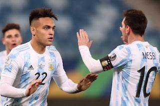 Lautaro Martinez è entrato nelle grazie di Messi: tutto è cambiato dopo un allenamento