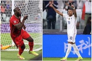 Gol, giocate e tanta classe: finisce in parità la sfida tra Mbappè e Lukaku in Francia-Belgio