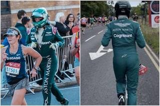 La strana impresa dell'ingegnere Aston Martin: corre la maratona con la divisa da pilota F1