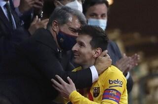"""Il sogno infranto di Laporta su Messi: """"Ho sperato mi dicesse che avrebbe giocato gratis al Barça"""""""