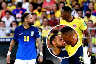 Storie tese tra Neymar e Yerry Mina: Colombia-Brasile diventa un regolamento di conti (con bacio)