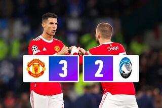 L'Atalanta sogna ma crolla: Cristiano Ronaldo firma la rimonta United, da 0-2 a 3-2