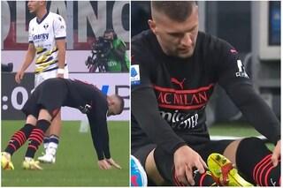 Milan in totale emergenza, anche Rebic si infortuna: contro il Verona out al 36'
