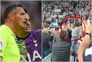 L'ovazione per l'eroe di Newcastle-Tottenham: lo spettatore è un medico, salva una vita in diretta