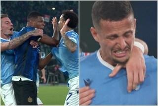 Rissa finale in Lazio-Inter, Lautaro e Dumfries incontenibili: Luiz Felipe esce in lacrime