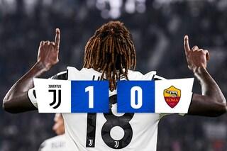 Kean lancia la Juventus: vittoria pesante sulla Roma nella serata di Orsato