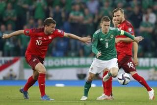 Qualificazioni Mondiali in TV di sabato 9 ottobre: Svizzera-Irlanda del Nord in chiaro, dove vederla