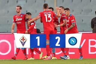 La settima sinfonia del Napoli di Spalletti, Fiorentina battuta 2-1: le firme di Lozano e Rrahmani