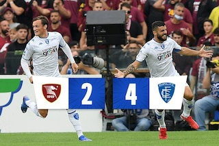 Gol e spettacolo all'Arechi, l'Empoli batte 4-2 la Salernitana: Colantuono va subito ko