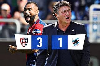 Prima vittoria del Cagliari e di Mazzarri: 3-1 alla Sampdoria nel segno di Joao Pedro e Caceres