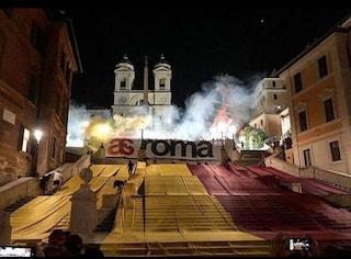 Nascita dell'As Roma: così i tifosi hanno festeggiato da Piazza di Spagna a Cinecittà