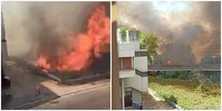 Incendio a Spinaceto: trovata una tanica di benzina