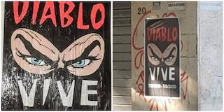 """""""Diablo vive"""": Roma incartata dai manifesti che ricordano il narcotrafficante e capo ultras"""