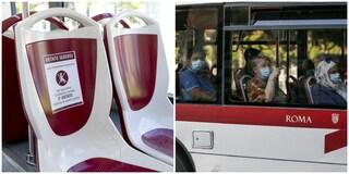 Coronavirus Roma, sui mezzi di trasporto si possono di nuovo occupare tutti i posti a sedere