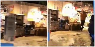 Nubifragio a Roma, crolla tetto di un supermercato ad Ardea: dipendenti in fuga