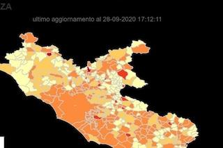 Aumentano i contagi: la mappa dei comuni del Lazio con più casi di coronavirus