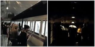 Maltempo a Roma, black out alla stazione Termini: passeggeri al buio in metro