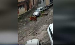 Nubifragio e allagamenti a Rocca di Papa, strade diventano fiumi in piena