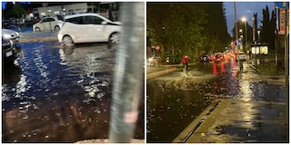 Violento temporale a Roma, grandine e fulmini sulla capitale: strade allagate e traffico in tilt