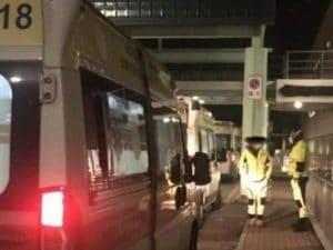 Le ambulanze con i pazienti Covid in fila al Policlinico di Tor Vergata