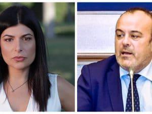 A sinistra la consigliera regionale di Fratelli d'Italia, Chiara Colosimo, a destra il consigliere di Forza Italia, Antonello Aurigemma