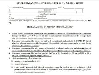 Coprifuoco nel Lazio, dalle 24 per circolare servirà un'autocertificazione