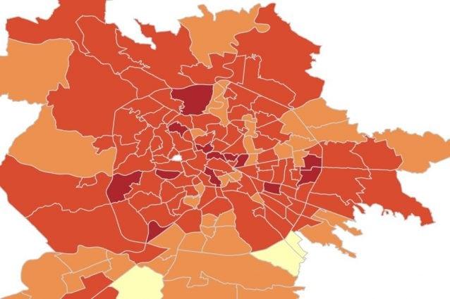 Cartina Roma Nord.Coronavirus Roma I Dati E La Mappa Dei Contagi Per Quartiere Primavalle Quello Con Piu Casi