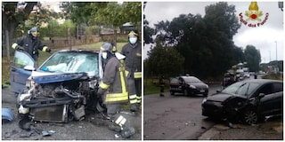 Incidente su via Pontina Vecchia, scontro frontale tra due auto: quattro feriti