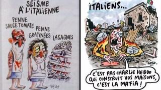 """Terremoto Amatrice, Charlie Hebdo a processo per le vignette sul sisma: """"Offendono le vittime"""""""