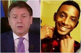 """Il presidente Conte: """"Willy Monteiro non un eroe, ma un buono con coraggio e dignità"""""""