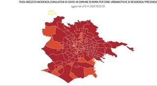 Coronavirus Roma, i dati e la mappa aggiornata dei contagi per quartiere