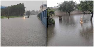 Bomba d'acqua su Anzio e Nettuno, strade e negozi allagati: automobilisti intrappolati nelle auto