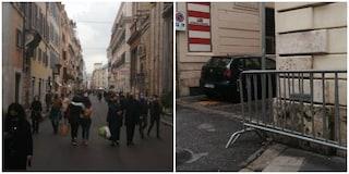 Centro di Roma sorvegliato dalle forze dell'ordine, accessi pronti a chiudere