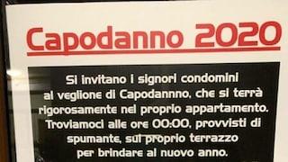 Capodanno 2021 in pigiama a Roma, alla Garbatella si brinda dai balconi