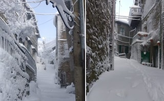 Nevicate abbondanti anche in provincia di Roma: paesi completamente imbiancati