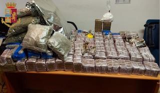 Polizia pedina per giorni un 24enne, tradito da una lite: in casa oltre 100 chili tra hashish e coca