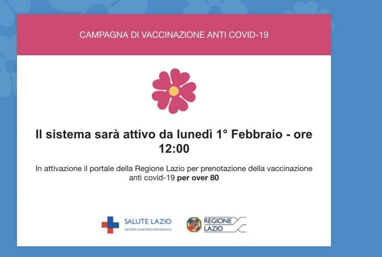Prenotazione vaccino Covid per over 80 nel Lazio, il sito ...