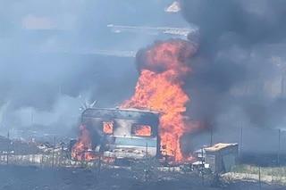 Incendio ad Ardea, brucia una roulotte: una persona morta carbonizzata