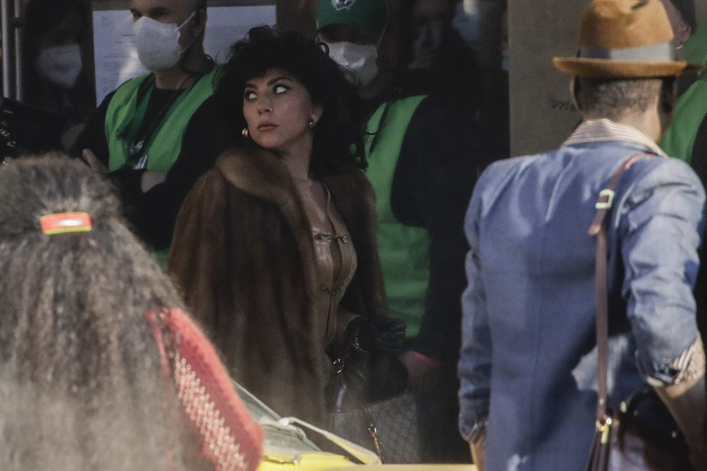 Lady Gaga sul set di 'House of Gucci'