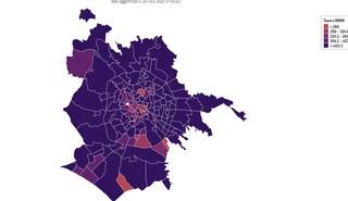 Coronavirus, i dati e la mappa dei contagi in tutti i quartieri di Roma aggiornati al 25 marzo