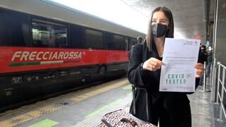 """Il primo treno Covid Free Roma-Milano: """"Tamponi gratis per viaggiare in sicurezza"""""""