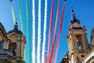 Festa della Liberazione, lo spettacolo delle Frecce Tricolori sui cieli di Roma