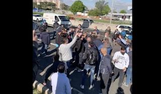 Protesta e blocco traffico sul Grande Raccordo Anulare, interviene polizia in assetto antisommossa