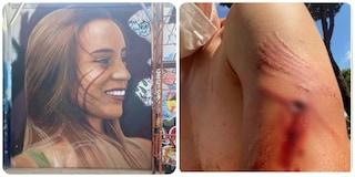 Lo street artist Jorit aggredito mentre lavorava al murales per Luana D'Orazio