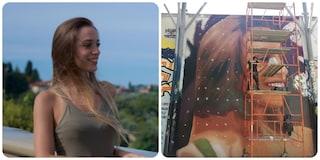 A Roma il murales di Jorit per Luana, l'operaia morta a 22 anni mentre lavorava in fabbrica