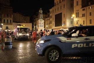 L'Italia batte la Svizzera: i festeggiamenti in una Campo de Fiori blindata dopo gli incidenti