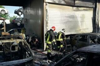 Colleferro, scoppia un incendio in un deposito giudiziario: in fiamme diverse auto