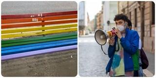 """Vandalizzata la panchina arcobaleno del Gay Center a Montesacro, Turano: """"Sarà presto ripristinata"""""""
