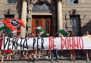 """Casapound, striscione davanti alla sede dell'Agenzia del Farmaco: """"Verità per De Donno"""""""